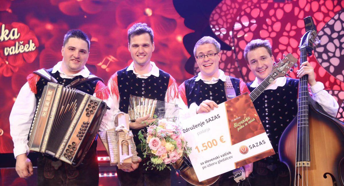 ZMAGOVALCI FESTIVALA SLOVENSKA POLKA IN VALČEK 2017