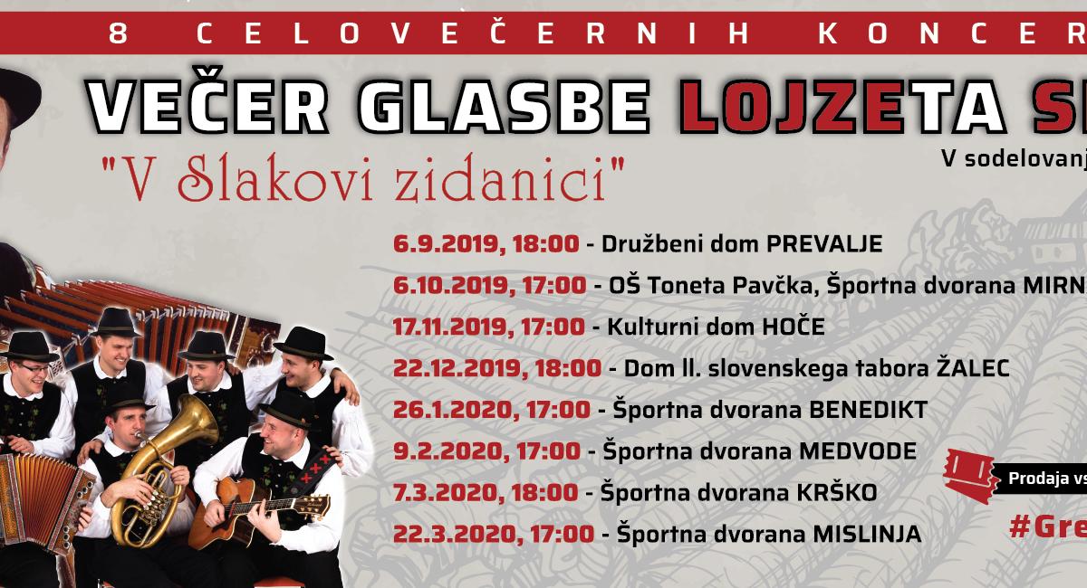 Večer glasbe Lojzeta Slaka 2019/2020